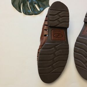 2b51cdf0d3f5 Florsheim Shoes - Florsheim Leather Woven Huarache Sandals Loafers